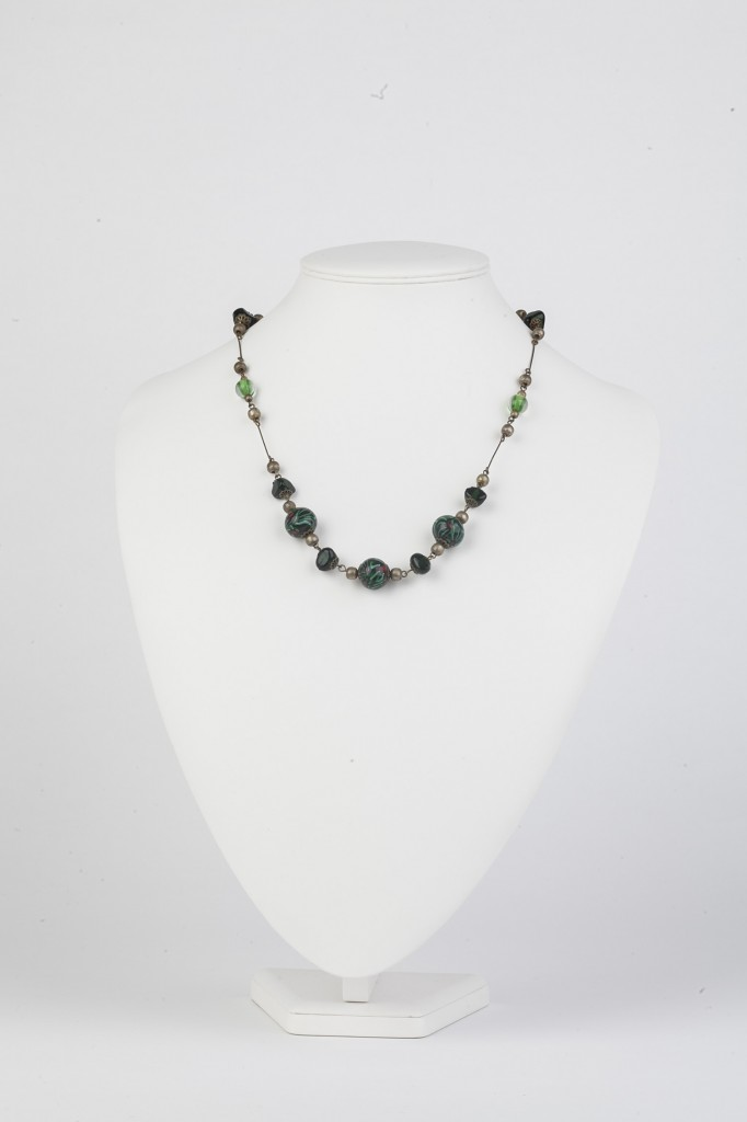 greens glass necklace