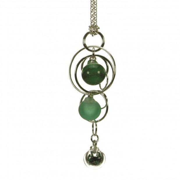 Emerald Triple Bubble Pendant sq