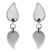 leaf earrings silver chavin