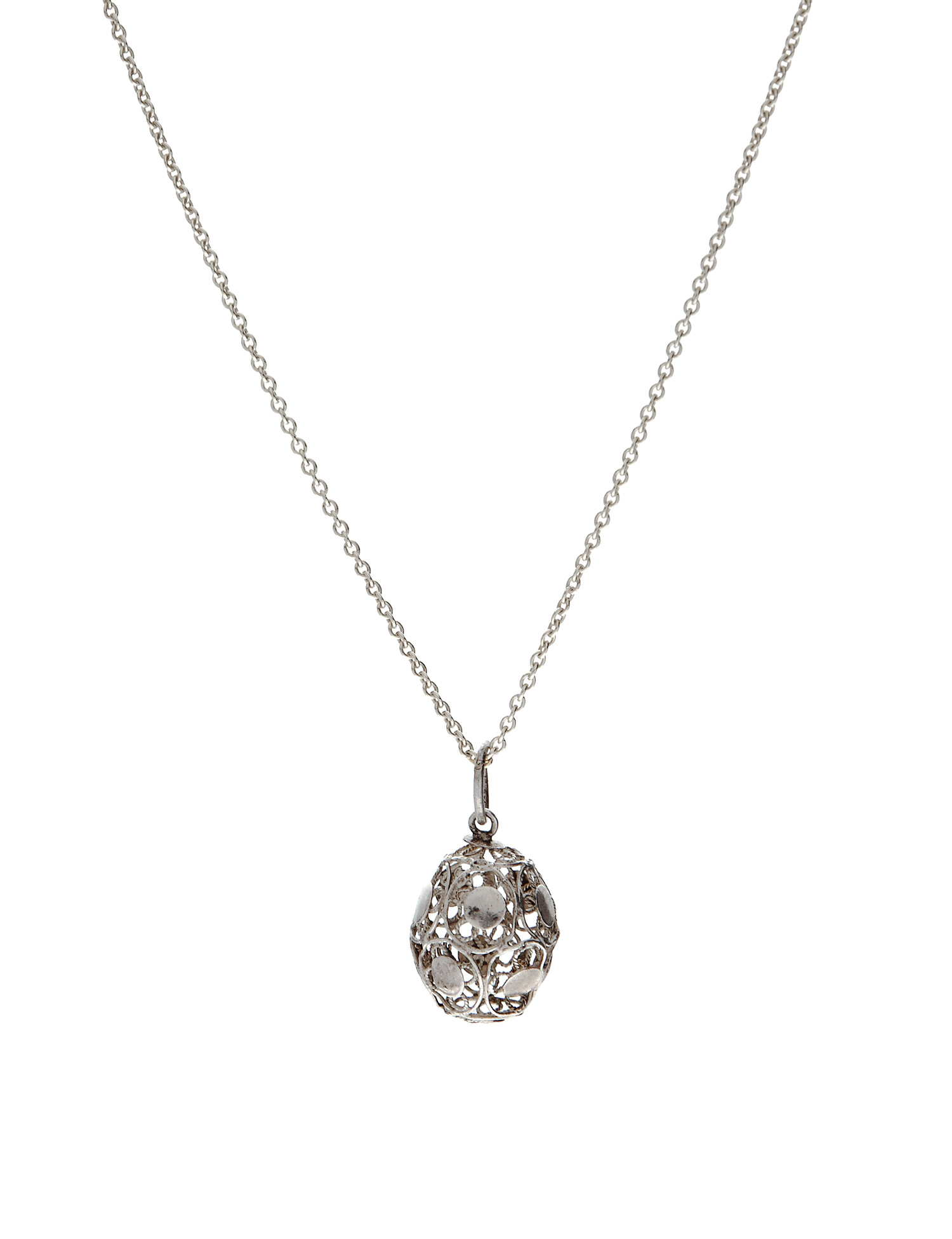 Silver filigree egg pendant boutique with heart egg pendant mozeypictures Gallery