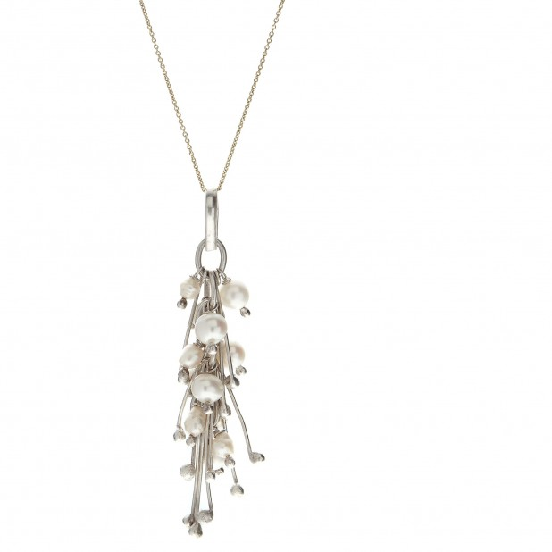 silver & pearls pendant