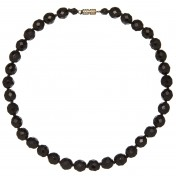 black glass faceted necklace vintage