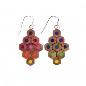 colour spectrum earrings