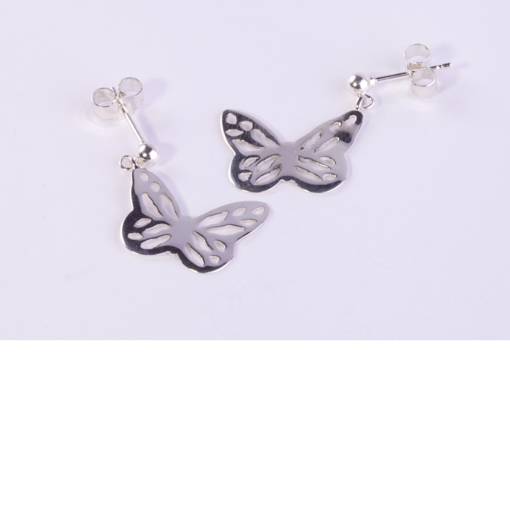 butterfly drop silver earrings potts and kendall