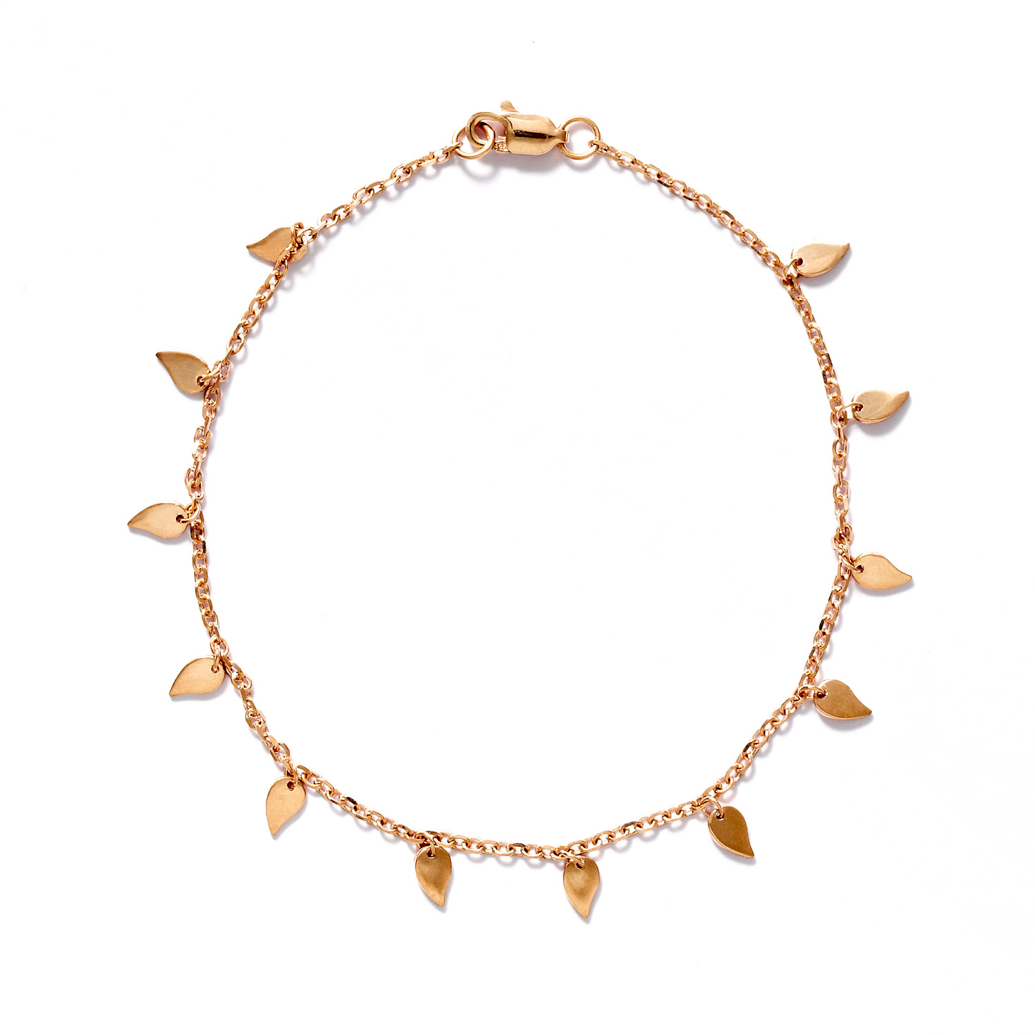 Rose Gold Leaves Bracelet