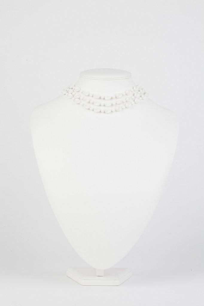 milk glass vintage necklace