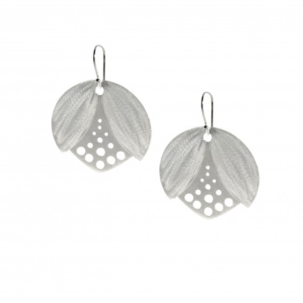 oria lotus bud earrings