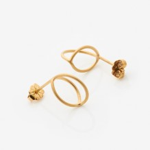 gold lily earrings