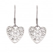 silver filagree heart earrings chavin
