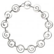 swirls silver necklace