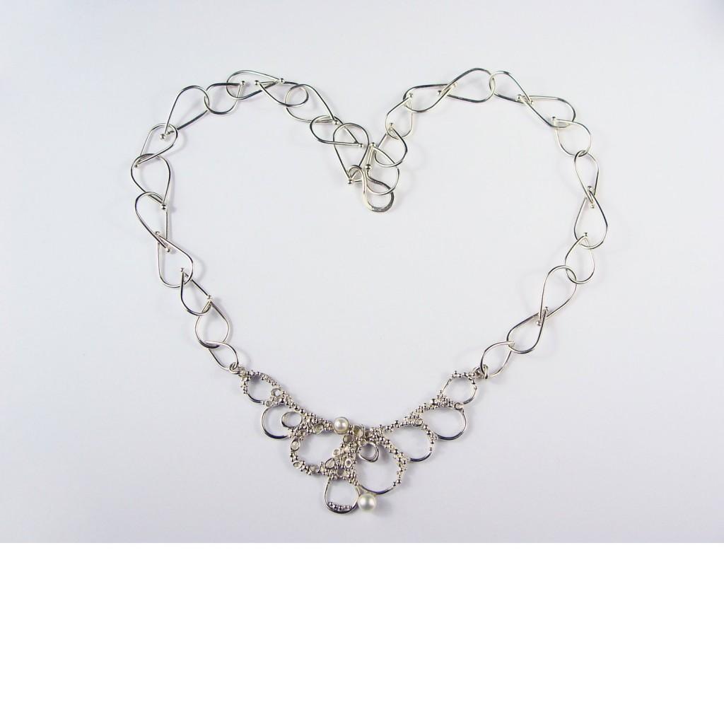 silver coral necklace lex watt