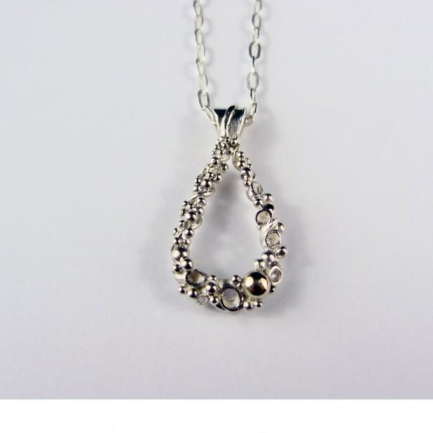 silver coral pendant lex watt