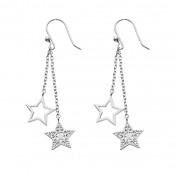 silver stars earrings chavin